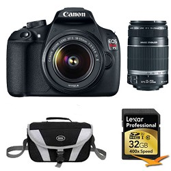 Canon EOS Rebel T5 18MP DSLR Camera w/ 18-55mm & 55-250mm Lens Instant Rebate Kit