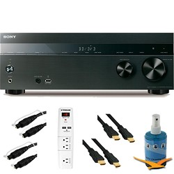Sony 5.2 Channel 725 Watt 4K AV Receiver (Black) Plus Hook-Up Bundle - STR-DH550