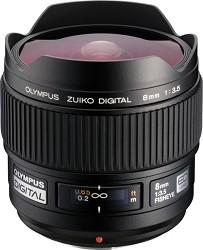 Olympus 8mm f3.5 Zuiko Digital Fisheye Lens USA WARRANTY