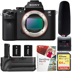 Sony Alpha 7II Mirrorless Camera - Body +Tascam Audio Rec...