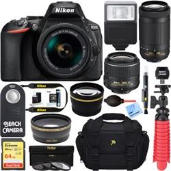 Nikon D5600 24.2MP DSLR Camera + AF-P 18-55mm & 70-300mm ...