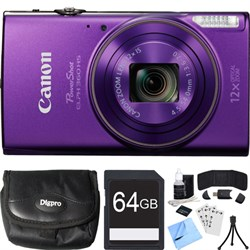 Canon PowerShot ELPH 360 HS Purple Digital Camera w/ 12x ...