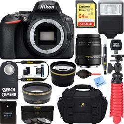 Nikon D5600 24.2 MP Digital SLR Camera + Sigma 18-250mm M...