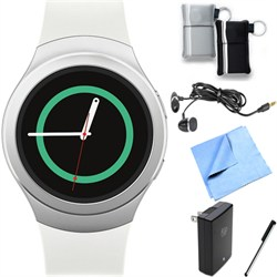 Samsung Gear S2 Smartwatch for Android Phones (Silver/Whi...
