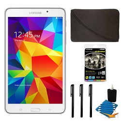 Samsung Galaxy Tab 4 White 8GB 7 Tablet and Case Bundle
