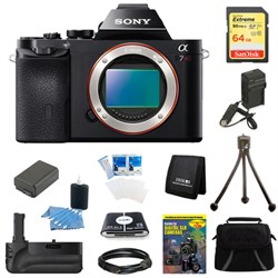 Sony Alpha 7R a7R Digital Camera 64 GB SDHC Card, Battery and Battery Grip Bundle