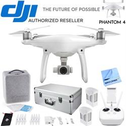 DJI Phantom 4 Quadcopter Drone Bundle with Extra Battery + Aluminum Case