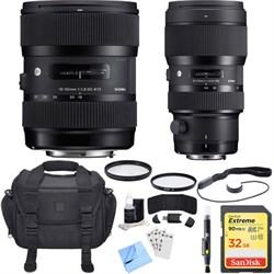 Sigma AF 18-35mm f/1.8 DC HSM + 50-100mm f/1.8 DC HSM Len...