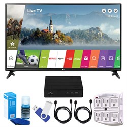 "LG LJ550B Series 32"" Smart LED HDTV + Terk HD TV Tuner 16..."