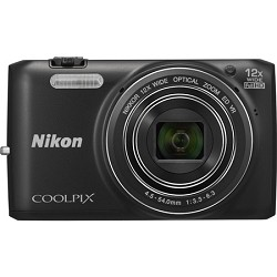 Nikon COOLPIX S6800 16MP 1080p HD Video Black Digital Camera - Factory Refurbished