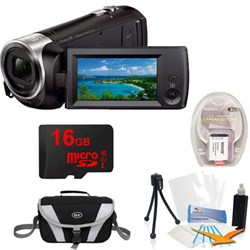 Sony HDR-CX405/B Entry Level Full HD 60p Camcorder + 1600...