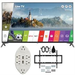 "LG 60"""" Super UHD 4K HDR Smart LED TV 2017 Model 60UJ7700 with Wall Mount Bundle"" E2LG60UJ7700"