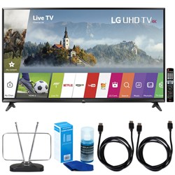 "LG 65"" Super UHD 4K HDR Smart LED TV (2017 Model) w/ TV Cut The Cord Bundle"