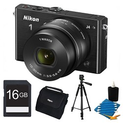 Nikon 1 J4 Mirrorless Digital Camera with 10-30mm Lens Black Kit