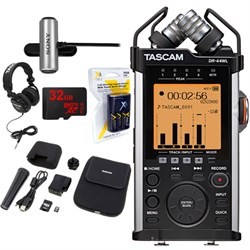 TASCAM Portable Recorder with XLR and Wi-fi DR-44WL w/ 32...