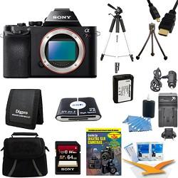 Sony Alpha 7 a7 Digital Camera 64 GB SDHC Card Battery and Tripod Bundle