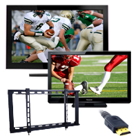 Free Wall Mounts and HDMI cables on select TVs!