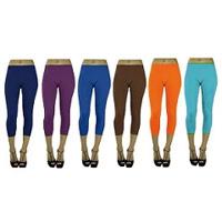 6-Pack Capri Yoga Legging One Size Fits Most