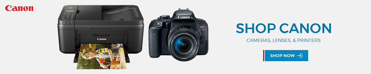 Canon cameras lenses and printers