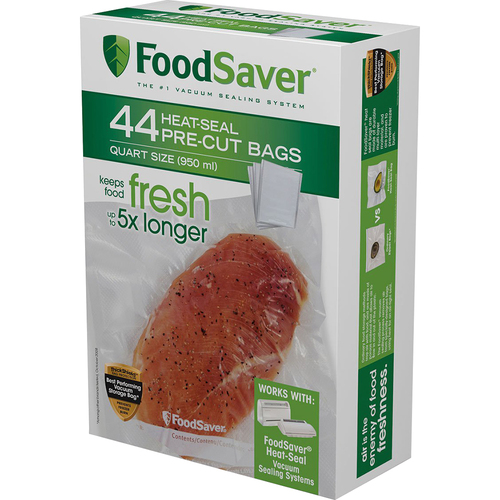 FoodSaver Quart Vacuum Seal Bags 44 Count