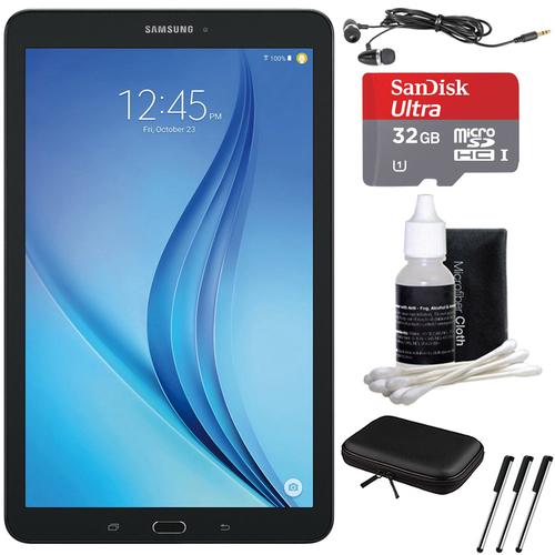 Samsung Galaxy Tab E 9.6 16GB Tablet PC (Wi-Fi) - Black 32GB microSDHC Card Bundle