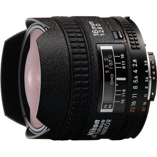 Nikon 16mm F/2.8D  AF Nikkor Fisheye Lens, With Nikon 5-Year USA Warranty