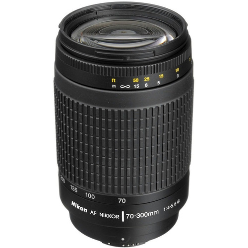 Nikon 70-300mm F/4-5.6G AF Zoom-Nikkor Lens, With Nikon 5-Year USA Warranty