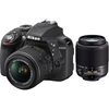 Nikon D3300 24.2 MP Digital SLR w/18-55 & 55-200 VR II Lenses Refurb Deals