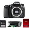 Canon EOS 80D DSLR 24.2 MP Camera Body w/Printer & Paper Bundle Deals