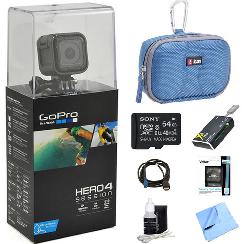 GoPro HERO4 Session Action Camera Ready for Adventure Bundle