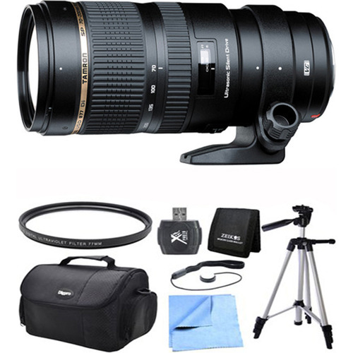 Tamron SP 70-200mm F/2.8 DI VC USD Telephoto Zoom Lens For Nikon Exclusive Pro Kit