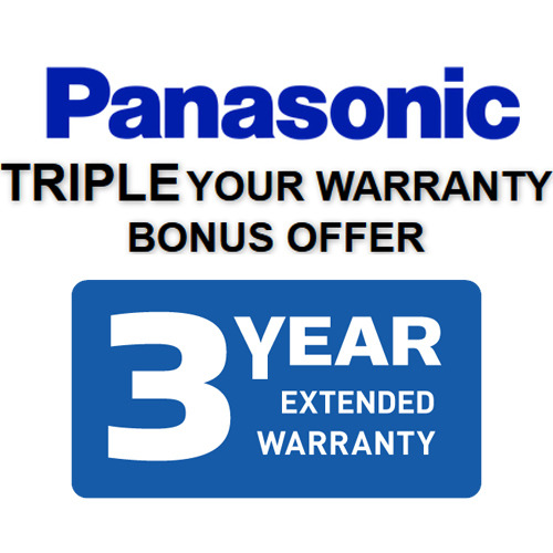 Instant Panasonic Extended Three Year Warranty (See Form for Details)