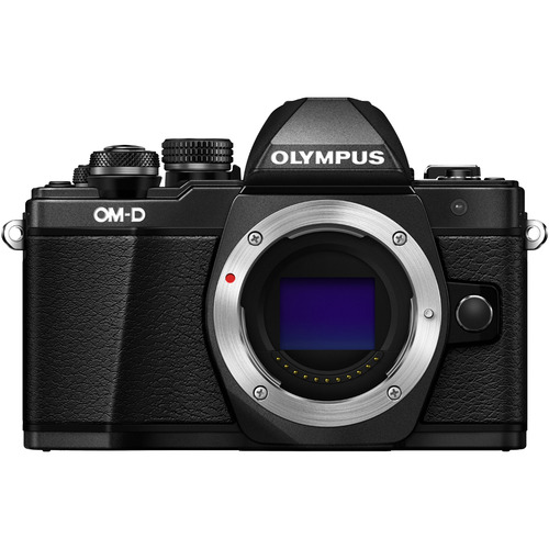 Olympus OM-D E-M10 Mark II Mirrorless Micro Four Thirds Digital Camera Body Only (Black)