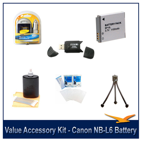 Special Value Accessory Kit For The Canon SX500,SX510,D30,SX700, S95 & SX280