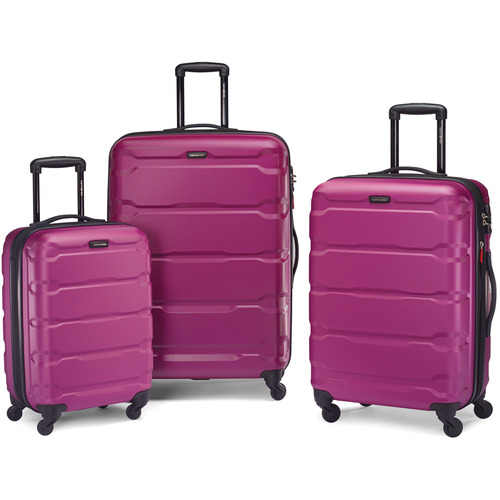 Samsonite Omni Hardside Luggage Nested Spinner Set (20`/24`/28`) Radiant Pink (68311-0596)