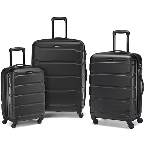 Samsonite Omni 3 Piece Hardside Luggage Nested Spinner Set (20`/24`/28`) Black -68311-1041