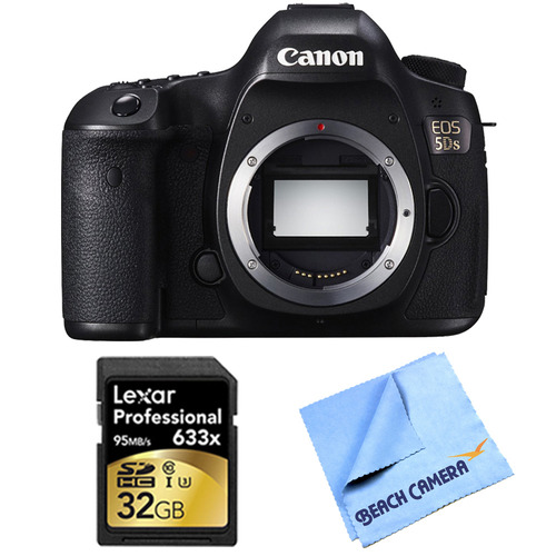 Canon EOS 5DS 50.6MP Digital SLR Camera (Body Only) Lexar Memory Bundle