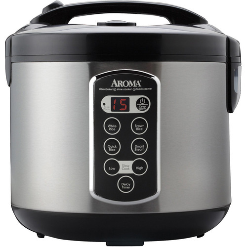 Aroma Professional 20 Cup Stainless Steel Digital Rice Cooker/Slow Cooker/Food Steamer