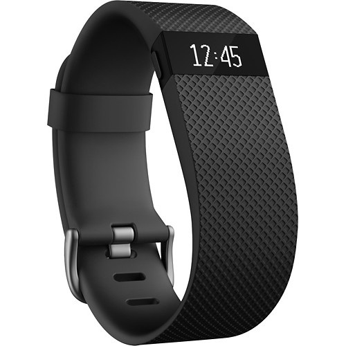 Fitbit Charge HR Wireless Activity Wristband, Black, Small - OPEN BOX