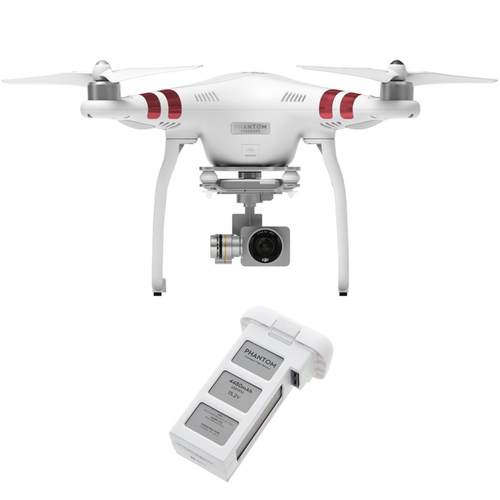 DJI Phantom 3 Standard Quadcopter Drone with 2.7K Camera And Extra Battery