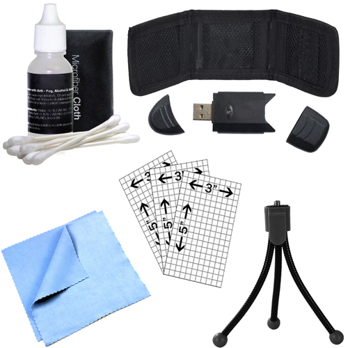 Memory Card Reader, Card Wallet, Cleaning Kit and More