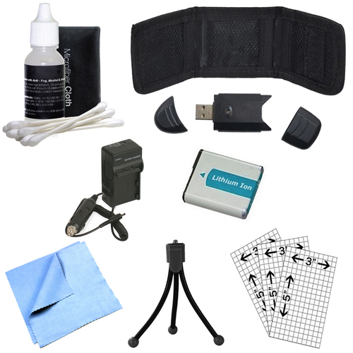 General Brand BX1 Battery & Charger, Memory Card Reader, Mini Tripod, Cleaning Kit and More