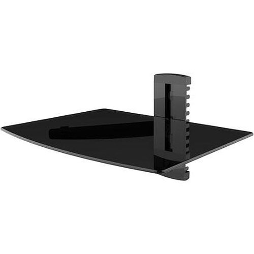 Single Glass Media Shelf for TV Components - AS-100