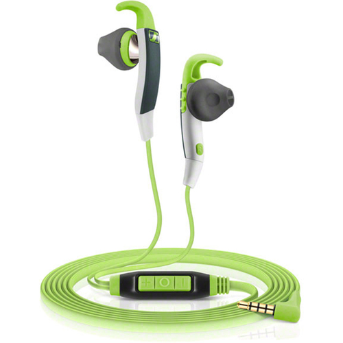 Sennheiser MX 686G Sports Earbud Headphones w/ Controls for Android Smartphones Green/Grey