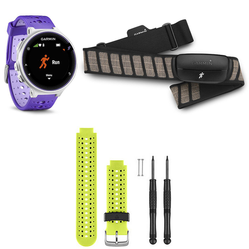 Garmin Forerunner 230 GPS Running Watch with Heart Rate Monitor - Yellow Band Bundle
