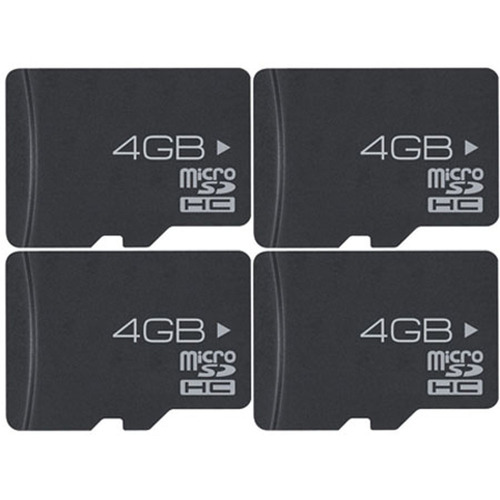 4-Pack 4 GB High-Speed MicroSD Memory Card (16 GB Total)