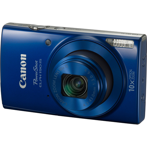 Canon PowerShot ELPH 190 IS Digital Camera with 10x Optical Zoom and Wi-Fi - Blue