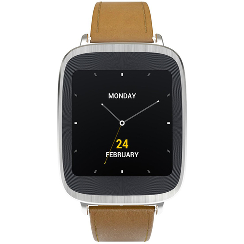 Asus ZenWatch Android Wear Waterproof Smartwatch Leather Brown