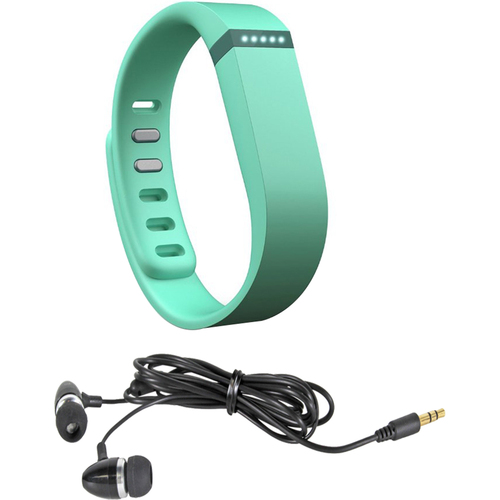 Fitbit Flex Wireless Activity + Sleep Wristband Teal + Earbuds