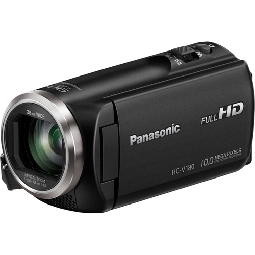 Panasonic HC-V180K Full HD Camcorder with 50x Stabilized Optical Zoom - Black